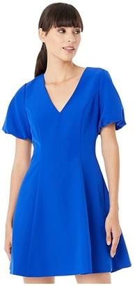 Milly Cady Amelia Dress (Cobalt) Women's Clothing