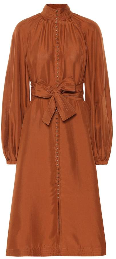 Zimmermann Ninety-Six Billow silk dress