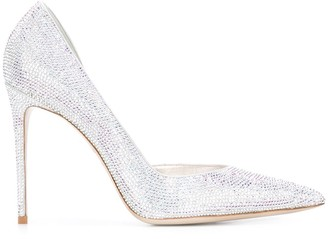 Le Silla Crystal Embellished 100mm Pumps