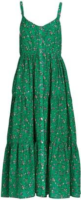 XiRENA Sophia Floral Silk-Cotton Dress