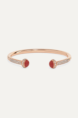 Piaget Possession 18-karat Rose Gold, Diamond And Carnelian Cuff - S