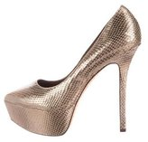 Alice + Olivia Metallic Platform Pumps