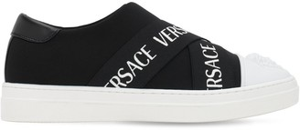 Versace Logo Neoprene Slip-on Sneakers