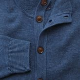 Charles Tyrwhitt Blue heather button through cardigan