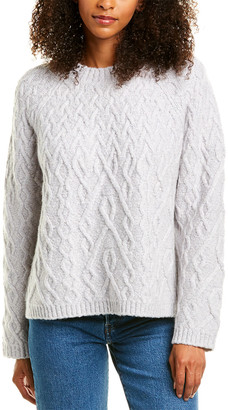Vince Gradient Cable Cashmere & Wool-Blend Sweater