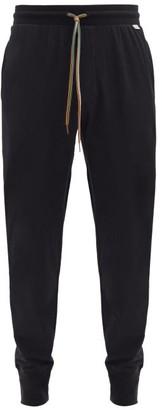 Paul Smith Drawstring-waist Cotton Pyjama Trousers - Black