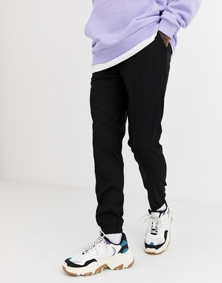 ASOS DESIGN smart skinny jogger in black