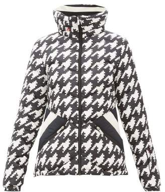 Perfect Moment Apres Duvet Houndstooth Down-quilted Ski Jacket - Womens - Multi