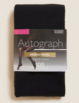 Autograph UsMarks and Spencer 100 Denier Merino Wool Blend Opaque Tights