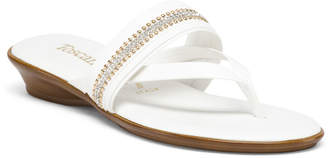 Made In Italy Jeweled Hooded Thong Sandals
