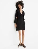 Madewell Texture & Thread Long-Sleeve Side-Tie Dress