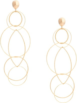 Gas Bijoux Torsade multi hoop earrings