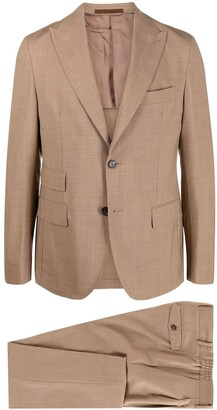 Eleventy Stripe Threading Single-Breasted Suit