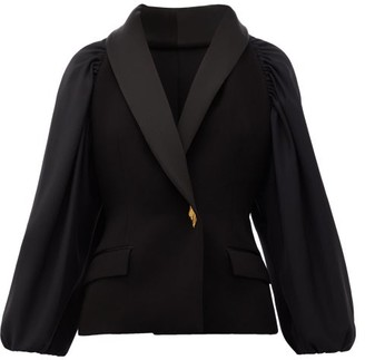 Roksanda Isobel Balloon-sleeve Single-breasted Jacket - Womens - Black