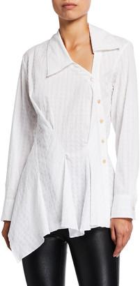 Palmer Harding Enata Asymmetric Button-Down Shirt