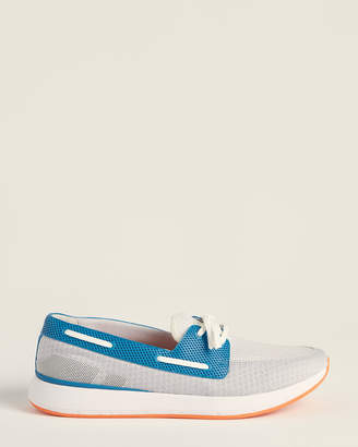 Swims Alloy & Seaport Blue Breeze Wave Boat Shoes