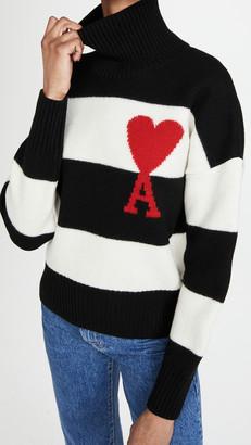 Ami Striped Pullover