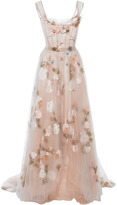 Marchesa Off The Shoulder Tulle Gown
