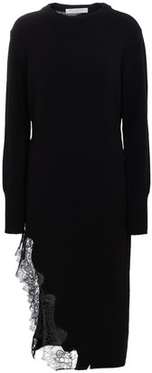 Philosophy di Lorenzo Serafini Lace-trimmed cotton-blend sweater dress