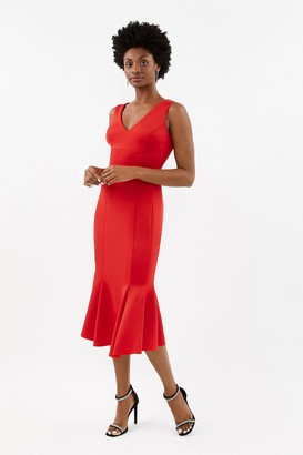 Coast Flippy Hem Seam Detail Midi Dress
