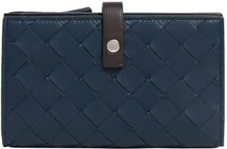 Bottega Veneta Leather Intrecciato French Wallet