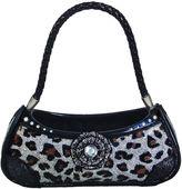 Asstd National Brand Silver Leopard Print Handbag Ring Holder