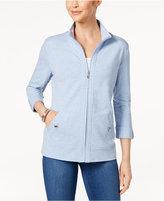 Karen Scott Roll-Tab Active Jacket, Created for Macy's
