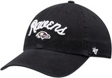 Unbranded Women's '47 Black Baltimore Ravens Melody Clean Up Adjustable Hat