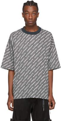 mastermind WORLD Black and White Print T-Shirt