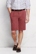 "Classic Men's 11"" Pleat Front Lighthouse Chino Shorts-Nautical Red"