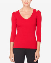 Catherine Malandrino Cutout Ribbed Sweater