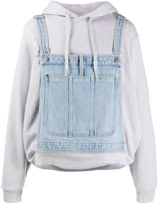 Moschino Dungaree Layered Hooded Sweatshirt
