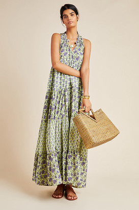 Ro's Garden Sofia Cover-Up Dress By in Green Size S