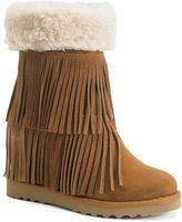 Madden-Girl Sleet Women's Fringe Wedge Boots