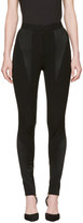 Versace Black Panelled Stretch Leggings