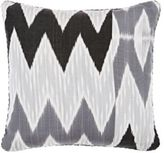 "Madeline Weinrib Juju Ikat"" Pillow-GREY"