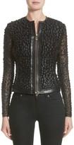 Versace Women's Pieced Leather Jacket