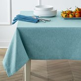Crate & Barrel Linden Aqua Tablecloth