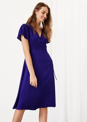 Phase Eight Sasha Satin Wrap Dress