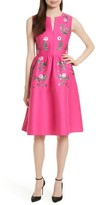 Kate Spade Women's Floral Embellished Fit & Flare Dress