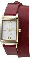 Nine West Women's Quartz Metal and Polyurethane Dress Watch, Color:Red (Model: NW/1954WTBY)