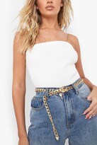 Thumbnail for your product : boohoo Chunky Chain Buckle Belt With Key
