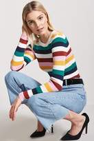 Forever 21 Ribbed Multicolor Stripe Sweater