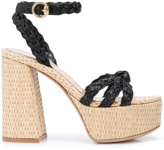 Gianvito Rossi Braided Strap Platform Sandals