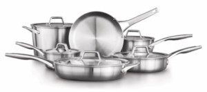 Calphalon Premier Stainless Steel 11-Pc. Cookware Set