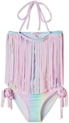 Stella Cove Girls' Rainbow Open-Back One-Piece Swimsuit, 4T-14
