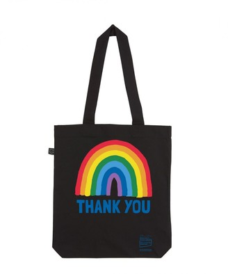 Little Mistress X Kindred Rainbow Thank You Nhs Rainbow Black Tote Bag