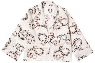Desmond & Dempsey Snake Print Boxy Pyjama Shirt