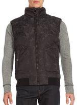 Versace Scroll Print Puffer Vest