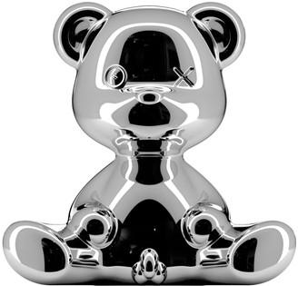 Qeeboo - Silver Metal Teddy Boy Lamp (2 colours) - silver - Gold/Silver/Gold